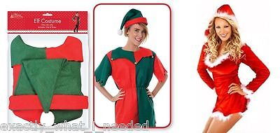 Elf Costume Santa's Little Helper Womens Christmas Xmas Pixie Fancy Dress Outfit](Little Pixie Clothes)