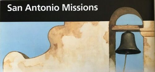 New SAN ANTONIO MISSIONS NHP - TX  NATIONAL PARK SERVICE UNIGRID BROCHURE  Map