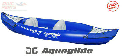 AQUAGLIDE Yakima 2 Persona Inflable Aguas Tranquilas Kayak Azul 24g PVC