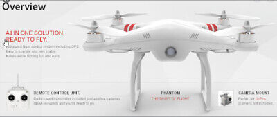 DJI Phantom Ready to Fly Drone with Case, Batteries , GOPRO 4 & Many Extras