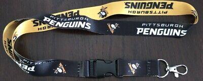 NHL Pittsburgh Penguins Hockey Breakaway Lanyard NHL New Clip Detachable ID
