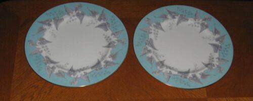 2 Wedgwood BUXTON TURQUOISE Dinner Plates