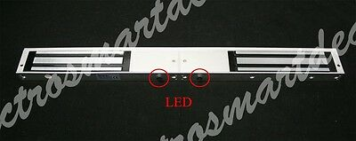 800 Lb X 2- Double Door Extra Strength Electric Magnetic Lock Led Working Light