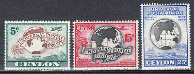 CEYLON 1949 UPU SET SCOTT 304-306 MNH