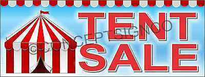 Tent Banner (1.5'X4' TENT SALE BANNER Outdoor Sign Car Hardware Store Event Ski)