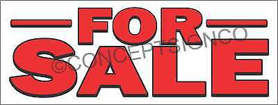 4'X10' FOR SALE Banderole Outdoor Sign XL Boat Car House Property Land Building BIG