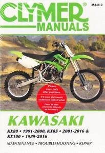 1989 - 2016 Kawasaki KX80 KX85 KX100 Clymer Repair Service Shop Manual M4482