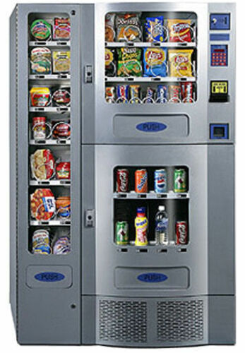 GREAT OFFICE DELI 3-PIECE COMBO SODA / SNACK VENDING MACHINE BY SEAGA PURCO