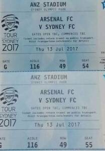 2x Arsenal FC vs. Sydney FC at ANZ Stadium Gladesville Ryde Area Preview