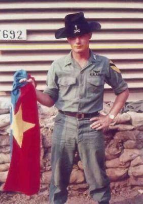 Vietnam War U.S. Army 1st Cav Troop Has Communist Flag High Gloss 8.5x11 Photo