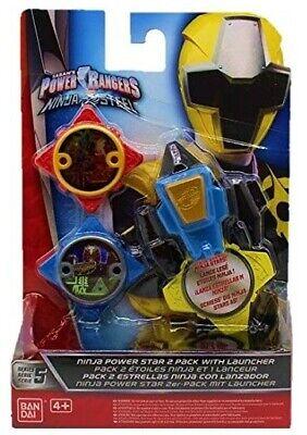 Bandai Power Ranger Star 2er-Pack Ninja Steel mit Launcher Wurfsterne Neuware