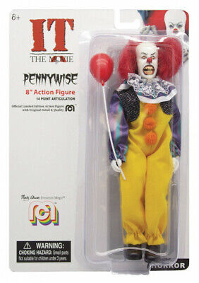 MEGO HORROR IT PENNYWISE CLOWN MOVIE ACTION FIGURE  8 Inch. IN STOCK!