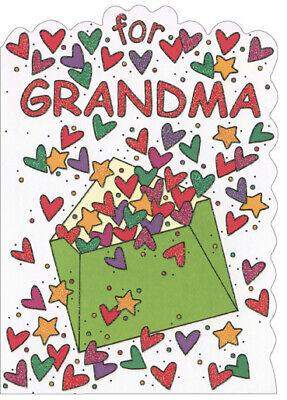 Heart Envelope: Grandma - Recycled Paper Greetings Christmas Card Grandmas Heart Card
