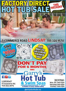 FACTORY DIRECT HOT TUB SALE IN LINDSAY THIS WEEKEND!