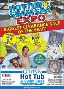 HOT TUB & SWIMSPA EXPO - OUR BIGGEST CLEARANCE SALE