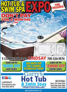 HOT TUB AND SWIM SPA EXPO IN LINDSAY THIS WEEKEND