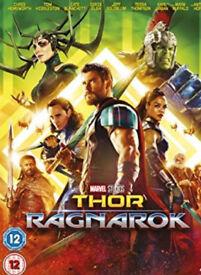 Thor ragnarok dvd plus other superhero dvds