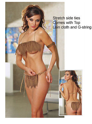 Cavewoman Jane loin cloth  sexy cave girl , Made to your size - Cavewoman Costumes