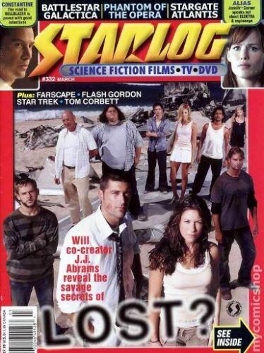 STARLOG #332 - LOST COVER - FARSCAPE - STAR TREK - BATTLESTAR GALACTICA - ALIAS