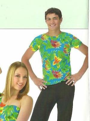 California Girls Hawaiian Dance Costume Men's Boys SHIRT ONLY Child L & AM & AXL (Hawaiian Costume Boys)