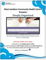 Simply Organized Presentation, Free Program at WLCHC, Sarnia