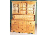Solid Pine Dresser - Display Cabinet