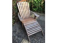 Wooden garden chair & footstool & waterproof cushion - ideal Christmas present!