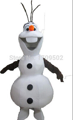 Mascot Costume for Adults Olaf Frozen for Parties and Birthdays Size XL - Olaf Costume For Adults