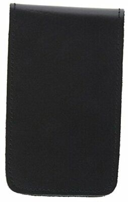 Leather Pocket 3x5 Memo Book Cover Note Pad Holder - Plain One Pack Black