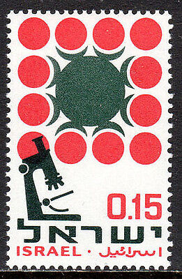 Israel 333, MNH. Campaign against cancer. Microscope and Cells, 1966