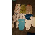 0 - 3 months vest ls and sleep suits