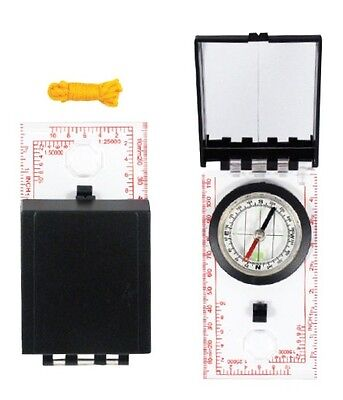 SIGHTING MIRROR SURVIVAL COMPASS boy scout map reading wilderness trail kit - Wilderness Trail Map