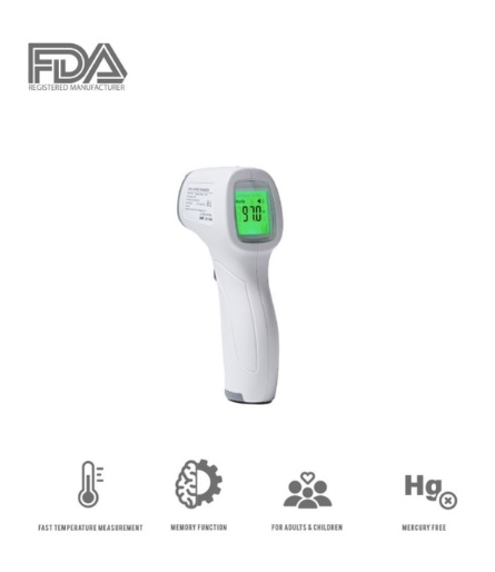 Medical Grade NONCONTACT Infrared Forehead Thermometer LCD Laser IR USA CE FDA