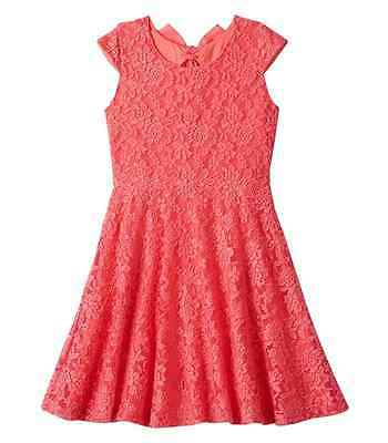 NWT SLEEVELESS LACE OVERLAY SKATER DRESS GIRLS PLUS SIZE 20 1/2 - Girls Dresses Size 20
