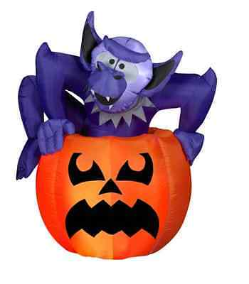 Halloween Gemmy 5FT Airblown Inflatable Animated Monster Rising from Pumpkin-NIB