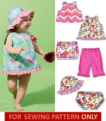 SEWING PATTERN!  MAKE BABY GIRL TOPS~SKIRT~PANTS~PANTIES~HAT! SUMMER CLOTHES!
