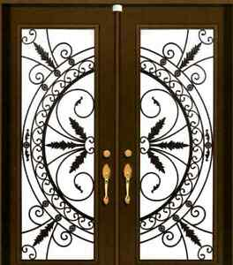 Door Glass Stained Glass Wrought Iron Inserts Windows