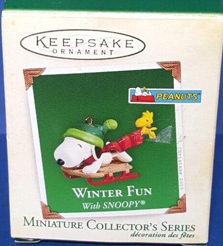 2005 Winter Fun With Snoopy Hallmark Peanuts Retired Miniature Series Ornament