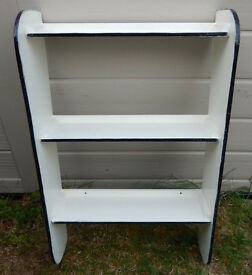 Vintage kitchen shelving unit with Formica sides. This unit is designed to be screwed to the wall.
