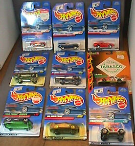HOT-WHEELS-REVELL-1998-2000-FIRST-EDITION-DIE-CAST-CARS-LOT-OF-9-UNOPENED-MIP