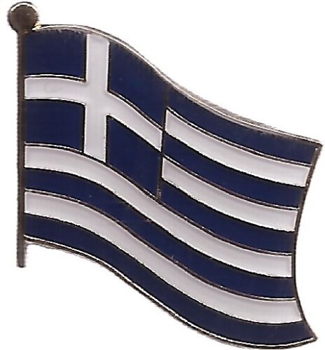 LOT OF 12 Greece Flag Lapel Pins - Greek Flag Pin