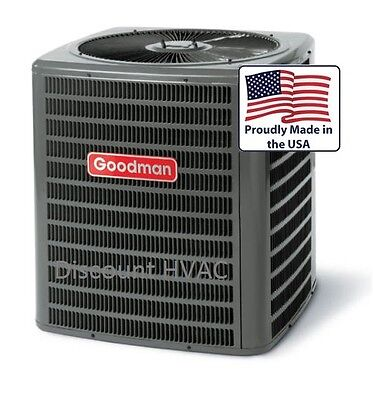 3 ton 14 SEER Heat Pump Goodman central AC unit gsz140361 co