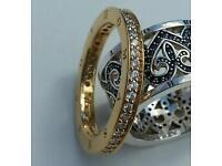 Thomas Sabo gold eternity ring sz60 (NEW)