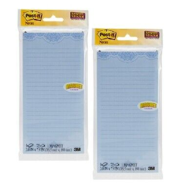 3m Post-it Notes Pads Wmagnet Lot Of Two 2 Size 3.8 In X 7.8 In