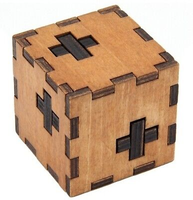 Wood Cube - Swiss Cube Wooden Box Puzzle Brain Teaser Puzzles IQ Wood Educational Puzzles