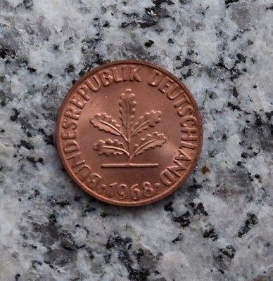 1 Pfennig 1968 G Kursmünze Bundesrepublik Deutschland - Top Prägefrisch !