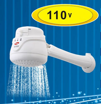 Electric Shower Head Tankless Water Heater Instant Hot Water 110v - Free Arm