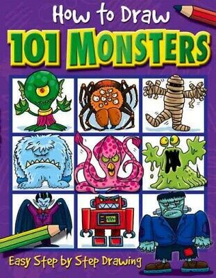 How to Draw 101 Monsters : Easy Step-by-step Drawing, Paperback by Green,