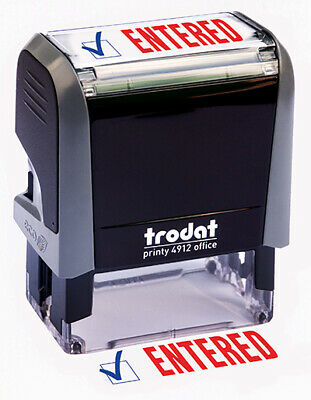 Trodat Entered Self Inking Rubber Stamp
