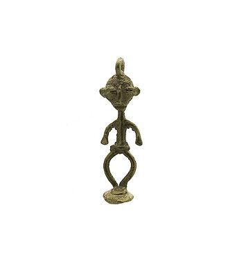 Pendant or Door Keys Statue Ancestor African Bronze 6060